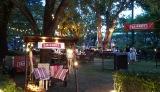 六本木に屋外「スミノフ」カフェ
