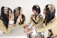 SKE48の(左から)高柳明音、石田安奈、中西優香、松井珠理奈  (撮影:原田宗孝)