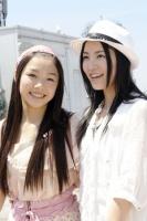 SKE48(左から)石田安奈、松井珠理奈  (撮影:原田宗孝)