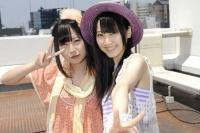 SKE48(左から)高柳明音、松井玲奈  (撮影:原田宗孝)