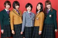 乃木坂46 <br>(左から)橋本奈々未、能條愛未、生駒里奈、若月佑美、松村沙友理