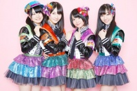 SKE48(左から菅なな子、秦佐和子、矢方美紀、須田亜香里)