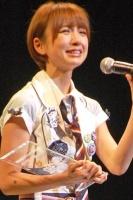 『第2回AKB48選抜総選挙』開票イベントの模様<br>3位 篠田麻里子