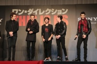 ワン・ダイレクション (左から)ハリー、リアム、ルイ、ナイル、ゼイン<br>ワン・ダイレクション『来日イベントでサプライズ生声熱唱☆日本の女子はかわいい!!』 ⇒