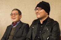 原作者のモンキー・パンチ(左)と青山剛昌<br>⇒