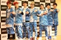 GOT7(左から時計回りにベンベン、マーク、Jr.、JB、ジャクソン、ヨンジェ、ユギョム)(C)ORICON inc.