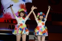 『AKB48グループ春コンinさいたまスーパーアリーナ〜思い出は全部ここに捨てていけ!〜』<br>HKT48単独公演の模様<br>「あ〜よかった」を歌う(左から)中西 智代梨、谷真理佳