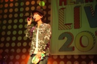 『Green Ribbon HEART BEAT LIVE 2014 with MTV』出演のハジ→