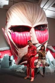 1/1リアルスケールの超大型巨人/『進撃の巨人展』(2015年1月25日まで)