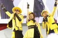 キング・クリームソーダ(左から)ゲラッパー、マイコ、ZZROCK(ジージーロック)
