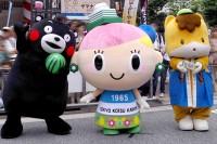 (左から)くまモン、トッコちゃん、ぐんまちゃん