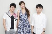 (左から)菅谷哲也、島袋聖南、小田部仁