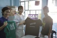 ドキュメンタリー番組『エシカルの贈りもの〜ハピネスをつくるデザイン〜』で訪れたフィリピン・マニラ市内のICAN 児童保護施設にて