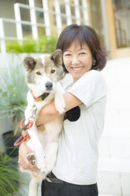 ミグノンの保護犬・とつこちゃんと浅田美代子