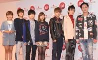 AAA(左から)宇野実彩子、西島隆弘、末吉秀太、伊藤千晃、與真司郎、日高光啓、浦田直也