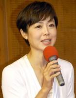 ドラマ『2030かなたの家族』の記者会見で司会を務めた有働由美子アナウンサー (C)ORICON NewS inc.