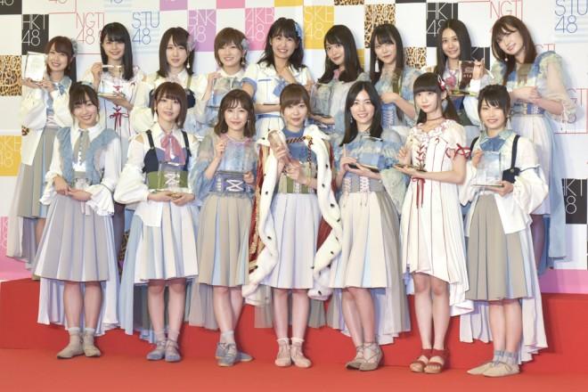 『第9回AKB48選抜総選挙』49thシングル 選抜メンバー(1位~16位)