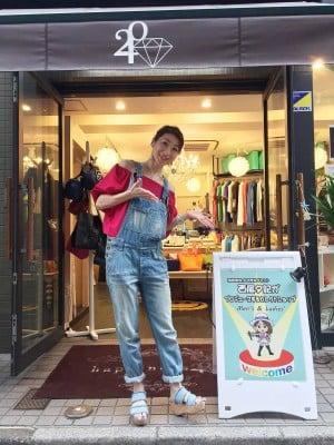 洋服好きが興じて、昨年10月セレクトショップ「happiness240」をオープン