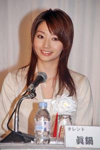 好きな女性コメンテーター1位に選ばれた眞鍋かをり。7月12日(木)『ヒートポンプ・蓄熱 普及委員会』のスローガン発表会にて。