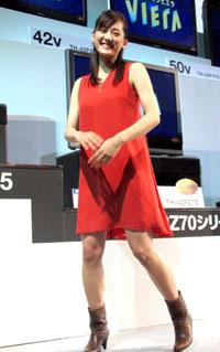 『VIERA(ビエラ)』の新CMキャラクター発表会に登場した綾瀬はるか