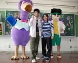 番組キャラクターのDr.ハマックス(右)とドードーアリノ(左)