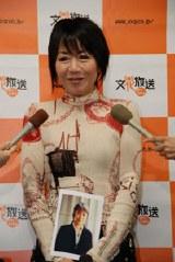 笑顔で喜びを語る奈美悦子