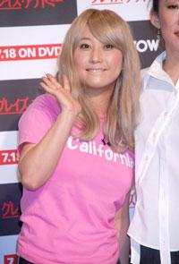 7月5日(木)、海外ドラマ『グレイズ・アナトミー』の会見に応援に駆けつけたキャサリン