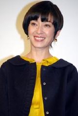映画『オリヲン座からの招待状』の完成披露試写会での宮沢りえ