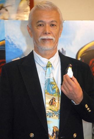 CGアニメ映画『サーフズ・アップ』のジャパンプレミアに登場したマイク眞木