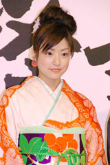 1位の『花より男子2』で好演をみせた井上真央、6月8日、映画『怪談』の完全披露試写会での模様