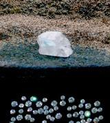 この氷砂糖状のかたまりが、ダイヤモンドの原石 6億円!