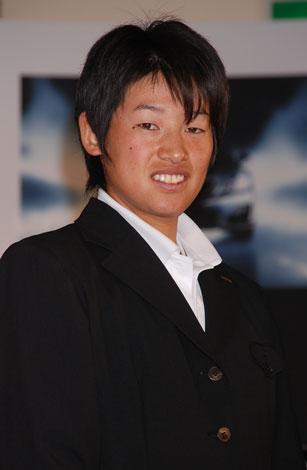 五輪応援『越えてゆくプロジェクト』の発表会に出席した上野由岐子選手
