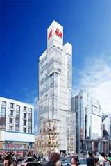 今秋日本に上陸する『H&M』原宿店のイメージ