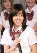リアルドキュメント・バラエティ番組『AKB48 ネ申テレビ』(CS放送ファミリー劇場)の制作発表会見に出席した前田敦子
