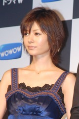 WOWOWスペシャルドラマシリーズ『ドラマW』の最新3作品の制作発表会見に出席した真木よう子