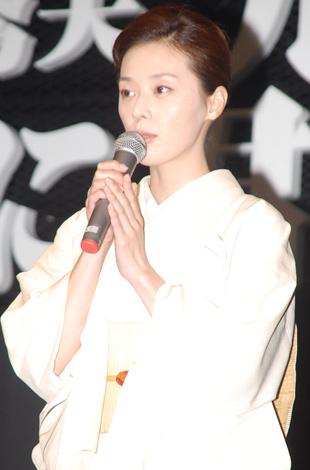 WOWOWスペシャルドラマシリーズ『ドラマW』の最新3作品の制作発表会見に出席した大塚寧々