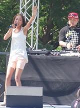 夏フェス『MEET THE WORLD BEAT 2008』に出演した青山テルマ