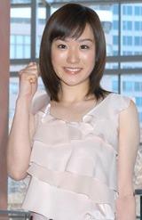 当時入社前で内定者だった3月中旬に、3代目サブMCに決定した堂真理子アナ[04年3月10日撮影]