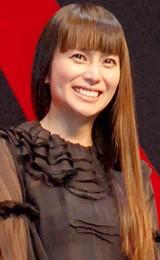 映画『容疑者Xの献身』舞台挨拶での柴咲コウ