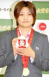 『金芽米』1年分の褒章米贈呈式に出席した伊調馨選手