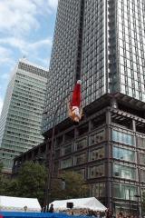 『東京丸の内ストリートスタジアム』トランポリンコーナーの様子