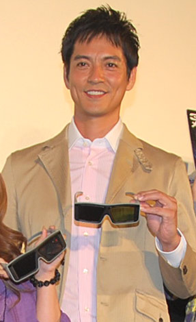 映画『センター・オブ・ジ・アース』日本語吹き替え版の完成披露試写会に出席した沢村一樹