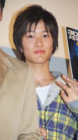 映画『センター・オブ・ジ・アース』日本語吹き替え版の完成披露試写会に出席した入江甚儀