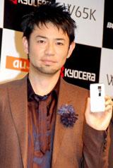 「W65K」新CM及び新CM楽曲発表会に出席した河口恭吾