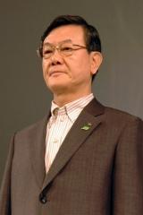 パナソニックの大坪文雄社長(08年9月撮影)