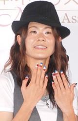 『ネイルクイーン2008』を受賞した「なでしこジャパン」を代表して登場した澤穂希選手