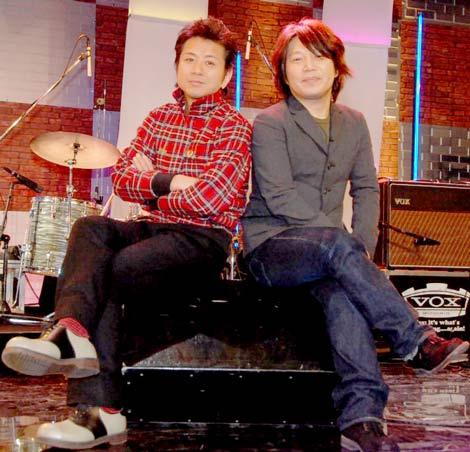 BSフジの音楽番組『BS☆フジイ スペシャル』の収録に臨んだ佐橋佳幸と藤井フミヤ