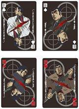 『ゴルゴ13男の名台詞入りトランプ』(左上から時計回りで)クローバー、スペード、ハート、ダイヤ(C)Takao Saito Pro/GOLGO syndicate, TV TOKYO 2008