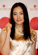『第59回NHK紅白歌合戦』司会発表会見に出席した仲間由紀恵