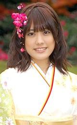 晴れ着姿を披露した『全日本国民美少女コンテスト』出身の福田沙紀
